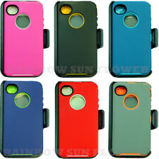 New for IPhone 4/4S Camo Case Cover (Belt Clip fits OtterBox Defender series)