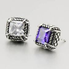 316L Stainless Steel CZ Mens Stud Earring 2H011A