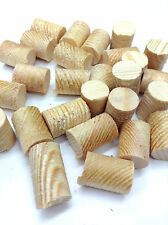 Pine Softwood Wooden Timber Pellets Plugs Sizes: 12.7mm, 12mm, 10mm