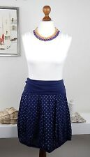 Rock blau gepunktet 34 36 38 Sommerrock Baumwolle Moda Made in Italy rockabilly