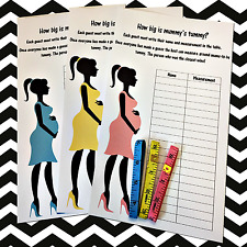 How big is mummy's tummy?  Baby Shower 20 Player Game - Tape measure - Girl boy