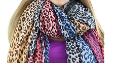 Womens Fashion Colorful Vibrant Leopard Print Belt Scarf Scarves Headwrap