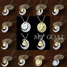 I Love You To The Moon And Back Ture love Pendant Collar Necklace Charm Gift