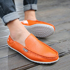 Fashion Mens Casual Soft Genuine Leather Slip On Loafers Moccasins Driving Shoes
