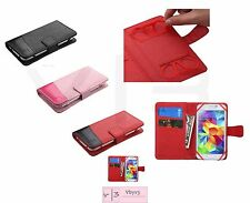 "Universal Cell Phone Cover Leather Flip Wallet Case Pouch Folio Size 4.0""- 4.5"""