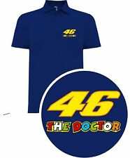 CAMISETA POLO T-SHIRT VALENTINO ROSSI MOTO GP LEGEND THE DOCTOR THE BEST SIL