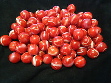 HOM Glass Marbles 14mm Red Bear Collectors or traditional game solitair