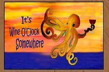 Wine O'Clock Octopus Funny Bar Floormat  20 ounce loop style from Original Art