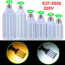 E27 5050SMD 9W 12W 16W 20W 25W 30W LED Spot Light Corn Lamp Bulb AC 220V