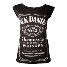 Jack Daniels Zipped Ladies T-shirt Free Shipping