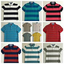 Tommy Hilfiger Polo Mens Custom Fit Pique Stripe Mesh Polo Shirt New With Tag