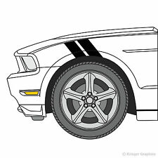 Ford Mustang Hash Mark Stripes Grand Sport Fender Bar Decals 3M