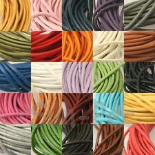 1mm Round Real Genuine Hide Leather Lace Thong Cord 26Colors 1-15meters Jewelry