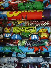 NEW SEASON ASSORTED MARVEL COMIC SUPER HEROES FABRIC/FQ/FAT QUARTER COTTON QUILT