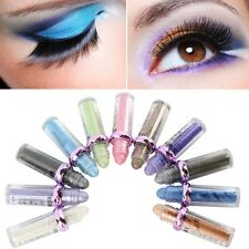 Hot 10 Colors Eye Shadow Makeup Cosmetic Shimmer Palette Roller Color Eyeshadow