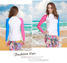New Women Sun Shirt Surf Swim Top Long Sleeve Rash guard Lycra Swimwear Top