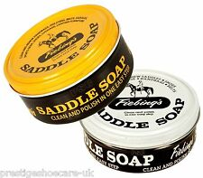 FIEBINGS SADDLE SOAP CLEANS CONDITIONS NOURISHES SOFTENS LEATHER SHOES BAGS SOFA