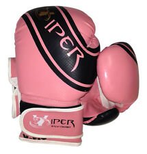 Ladies Pink Boxing Gloves Muay Thai Grappling Pad Punch Bag Mma Rex Leather