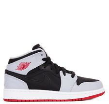 Youth / Womens Nike Air Jordan 1 I Mid Sneakers New Cement / Fire Red 554725-012