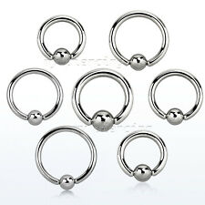 "2pcs. 12g, 10g 8G~3/8"" to 3/4"" Steel Captive Bead Ring Closure Ball Ears, Septum"