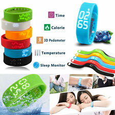 Smart 3D Wrist Watch Bracelet Pedometer Sport Track Step Walking Calorie Counter