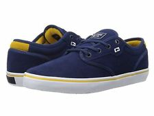 Globe Motley Blue Yellow White Suede Mens Skate Trainers Shoes Boots