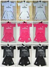 2014-2015 REAL MADRID shirt and short 3-14 years print RONALDO BALE or own name