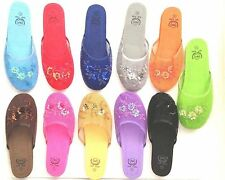 """""""Set of 6"""" Chinese Mesh Slippers w/ Floral Design Sizes 5 to 11 """"Multi Colors"""""""