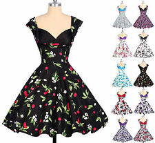 Cheap~ Vintage Retro robes Housewife Rockabilly 50s 60s Swing Pinup Floral Dress