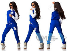 Fashion double C print stitching Hoodie Sweat Sweatshirt Track Sweatpants Set