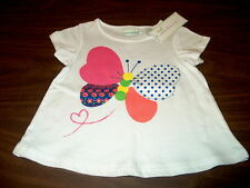 NWT First Impressions Play Girls 3-6 or 18 Months White Shirt with Butterfly