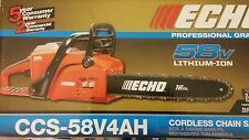 Echo CCS-58V4AH 16 in. 58-Volt Lithium-Ion Brushless Cordless Chainsaw
