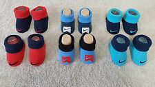 NEW 2 PAIR NIKE NEWBORN/INFANT BOOTIES WITH SWOOSH 0-6 MONTHS 3 COLOR COMBOS