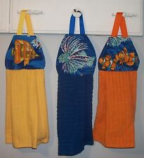 Lionfish Clown Butterfly Fish Coral Ocean Hanging Kitchen Hand Dishtowel HCF&D