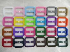 100x 1'' (25mm) - Wide Mouth Triglides Webbing Slides -Multi colors