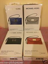 Michael Kors wallet clutch iphone 5 case wristlet red sapphire grey and black