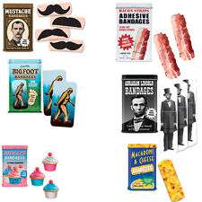 Novelty Bandages (Choose Your Style) Mustache Bacon Band-Aids Adhesive Funny New