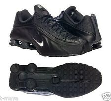 NIKE SHOX R4 MEN's M RUNNING LEATHER BLACK - WHITE AUTHENTIC BRAND NEW IN BOX SZ