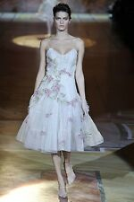 $8710!! NEW Roberto Cavalli RUNWAY Dress Floral Nude Pink Rare 40 2 4