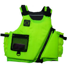 New Fly Fishing Vest Detachable Safe Life Jackets Waistcoat Boating Apple Green