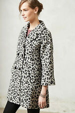 NIP Anthropologie Leopard Trapeze Coat by Elevenses Sz XS $228 5-Star Reviews