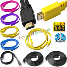 HDMI Male Flat Cable V1.4 3D Full HD 1080P Gold Plated High Speed Audio Ethernet