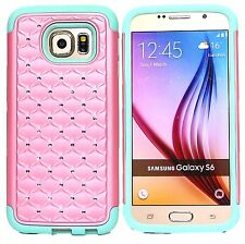 Hybrid Shockproof Diamond Crystal Hard Case Cover for Samsung Galaxy S6 S6 Edge
