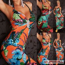 Womens Floral Dress Size 8-10 Halter Neck Cocktail Evening Maxi Summer Fashion