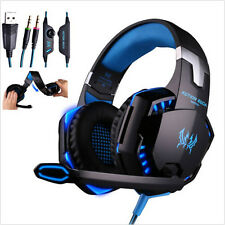 Gaming Headset Surround Stereo Headband Headphone USB 3.5mm LED With Mic NEW