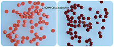 LOT 2MM Tiny Loose Round Cabochon Red Orange Coral Flat Back Cabs Supply 50 pcs