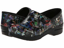 Women's Dansko Professional Daisy Floral Patent Pro Clogs 406560202 Sizes 37-42