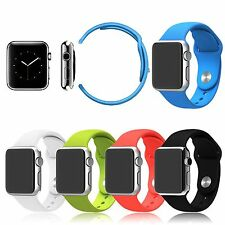 Silicone Watchband Fitness Sports Watch Band Strap for Apple Watch Sport 38/42mm