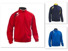 Errea Davenport Mens Tracksuit Top Training Jacket Sports Top Red Navy Blue