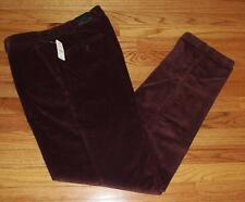 NWT Mens Brooks Brothers Burgundy Maroon Flat Front Corduroys Pants Trousers *2C